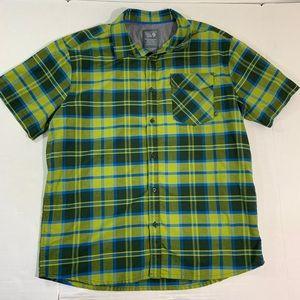 Mountain Hardwear Plaid Button Front Shirt XL